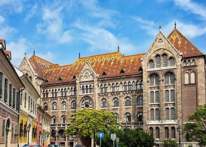Budapest Greeting Card featuring the photograph National Archives Of Hungary by Artur Bogacki