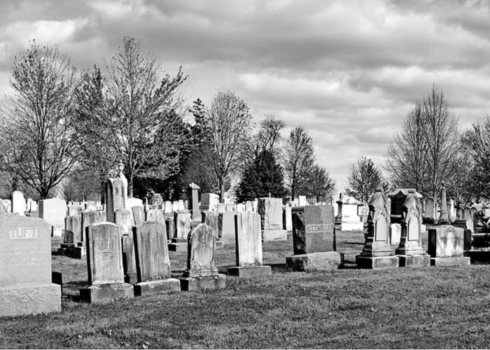 Gettysburg Greeting Card featuring the photograph National Cemetery - Gettysburg Battlefield by Brendan Reals