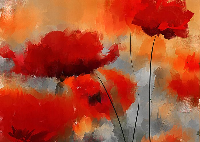 Poppies Art Gift Greeting Cards