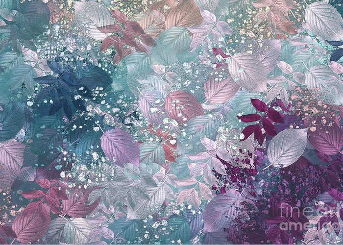 Abstract Digital Art Greeting Card featuring the digital art Naturaleaves - S1002b by Variance Collections