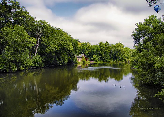 Marsh Greeting Card featuring the photograph Nature Center On Salt Creek by Thomas Woolworth