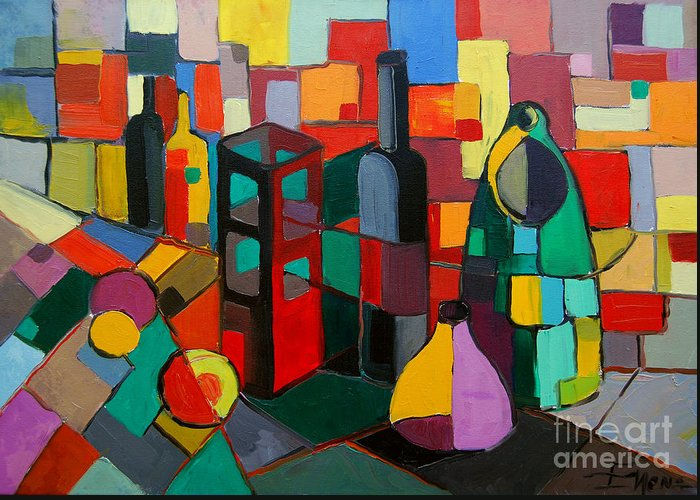 Rectangles Paintings Greeting Cards