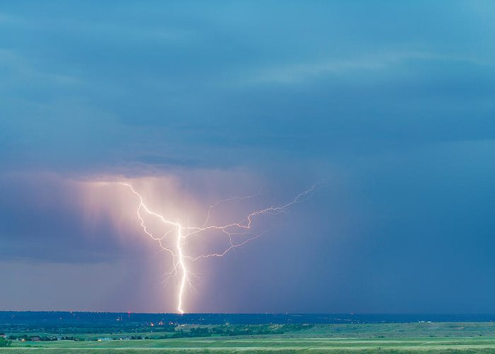 Lightning Greeting Card featuring the photograph Natures Avenging Spirit by James BO Insogna
