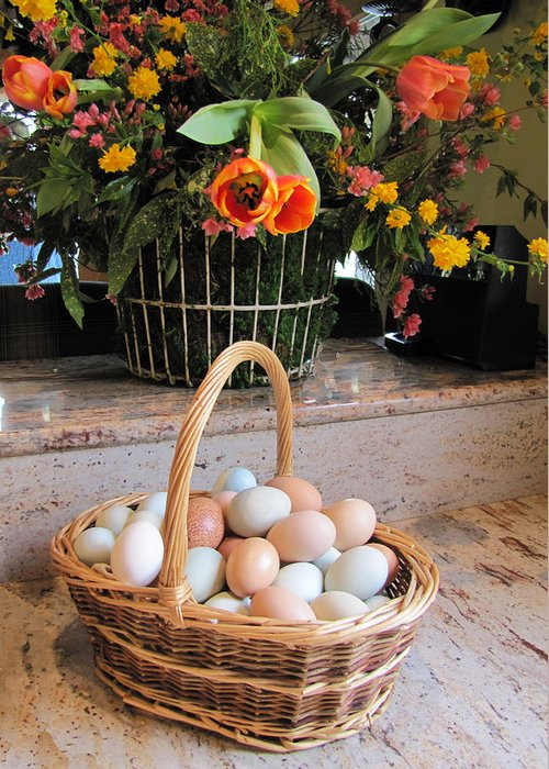 Eggs Greeting Card featuring the photograph Nature's Bounty by Penny Parrish