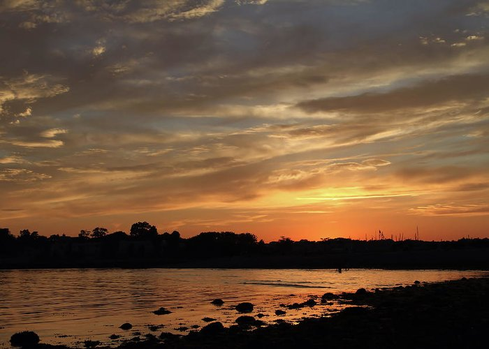Sunset Greeting Card featuring the photograph Nature's Created Colors by Karol Livote