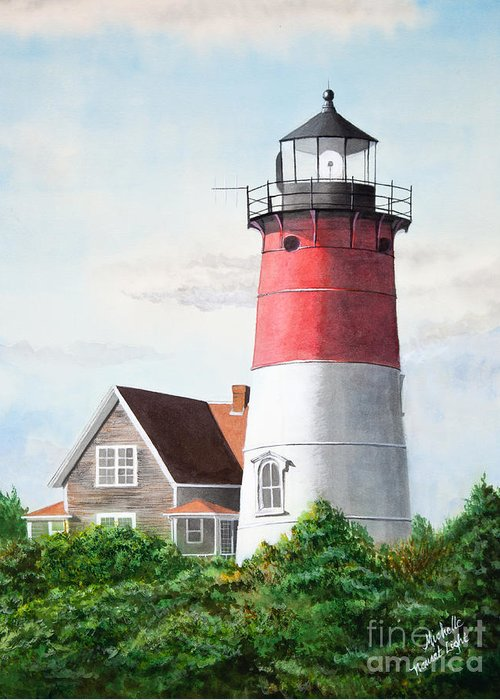 Nauset Beach Memories Greeting Card featuring the painting Nauset Beach Memories Watercolor Painting by Michelle Wiarda-Constantine