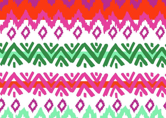 Southwest Greeting Card featuring the digital art Navajo Mission Round by Nicholas Biscardi