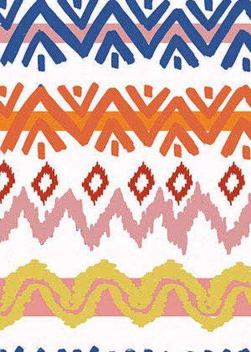 Navajo Greeting Card featuring the digital art Southwest Pattern III by Nicholas Biscardi