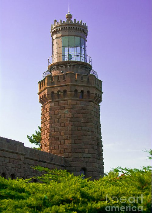 Lighthouses Greeting Card featuring the photograph Navesink Twin Lights Lighthouse by Anthony Sacco