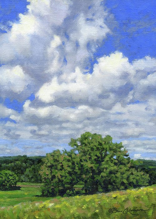 Summer Landscape Greeting Card featuring the painting Nearly September by Bruce Morrison