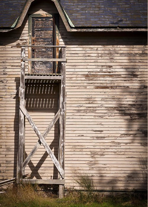 Close-up Greeting Card featuring the photograph Needs Some Paint And Some Stairs by Ronda Broatch