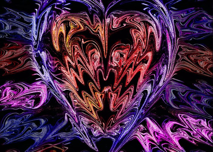 Illuminous Greeting Card featuring the photograph Neon Heart by Anthony Bean