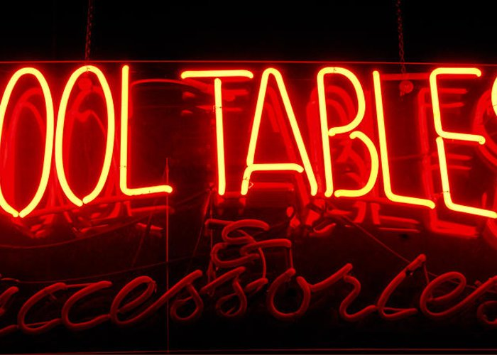 Neon Pool Hall Greeting Card For Sale By Steven Milner - Neon pool table
