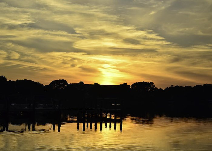 Sunset Greeting Card featuring the photograph Neon Sky by Elbe Photography