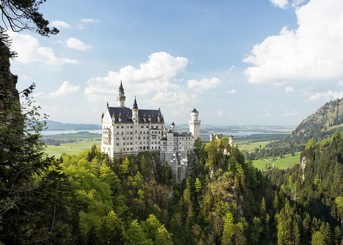 Alps Greeting Card featuring the photograph Neuschwanstein Castle by Francesco Emanuele Carucci