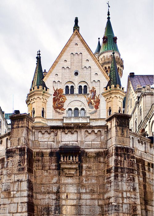 Architecture Greeting Card featuring the photograph Neuschwanstein Castle by Marcia Colelli