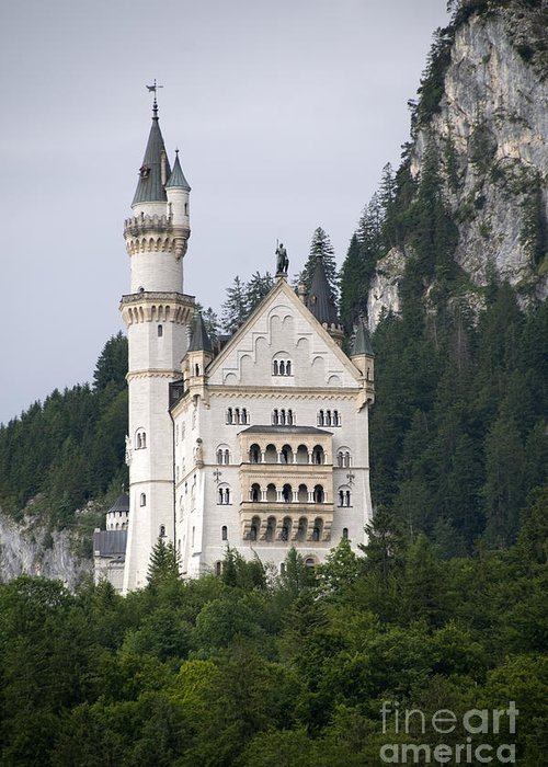 Architecture Greeting Card featuring the photograph Neuschwanstein Castle by Richard Patrick