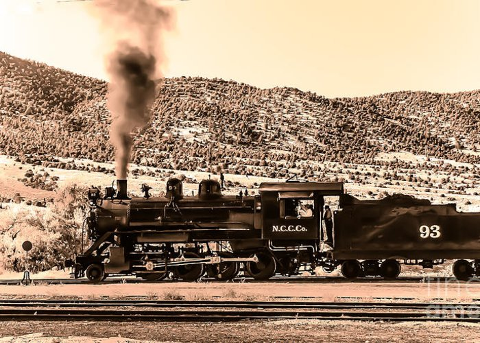 Train Greeting Card featuring the photograph Nevada Northern Railway by Robert Bales