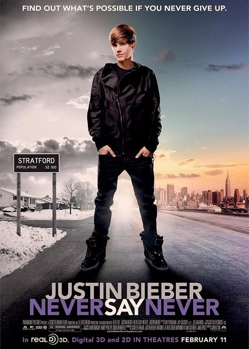 Justin Bieber Greeting Card featuring the photograph Never Say Never 1 by Movie Poster Prints