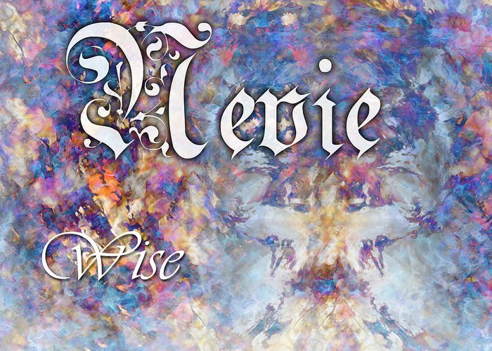 Spiritual Greeting Card featuring the painting Nevie - Wise by Christopher Gaston