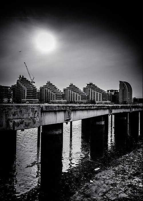 ascensis Tower Greeting Card featuring the photograph New Apartments Near Battersea by Lenny Carter