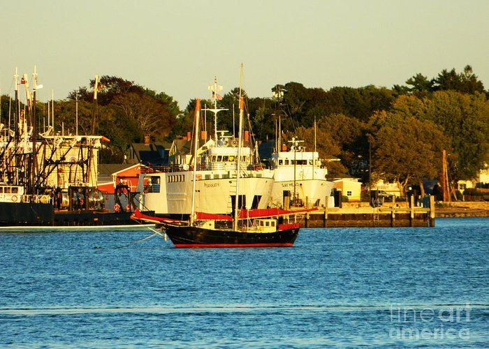 New Greeting Card featuring the photograph New Bedford Massachusetts 2 by Andrea Anderegg
