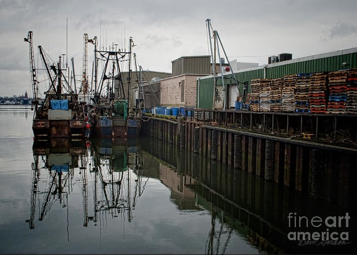 New Bedford Greeting Card featuring the photograph New Bedford Waterfront No. 4 by David Gordon
