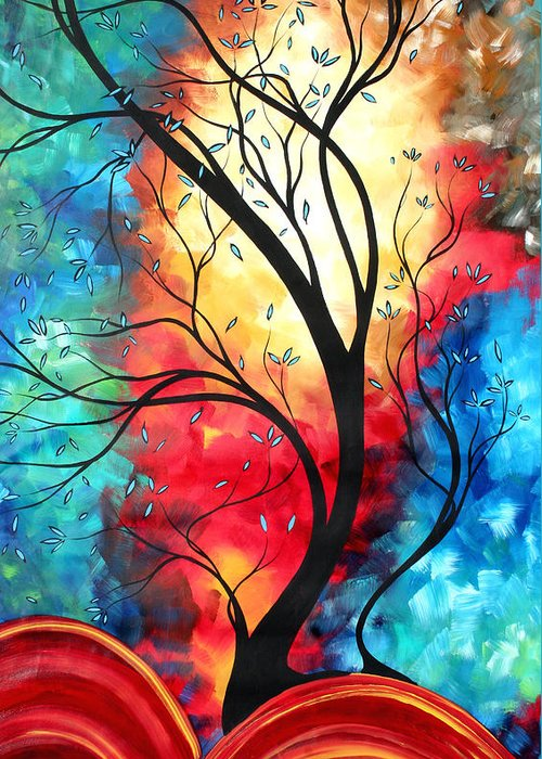 Original Greeting Card featuring the painting New Beginnings Original Art By Madart by Megan Duncanson
