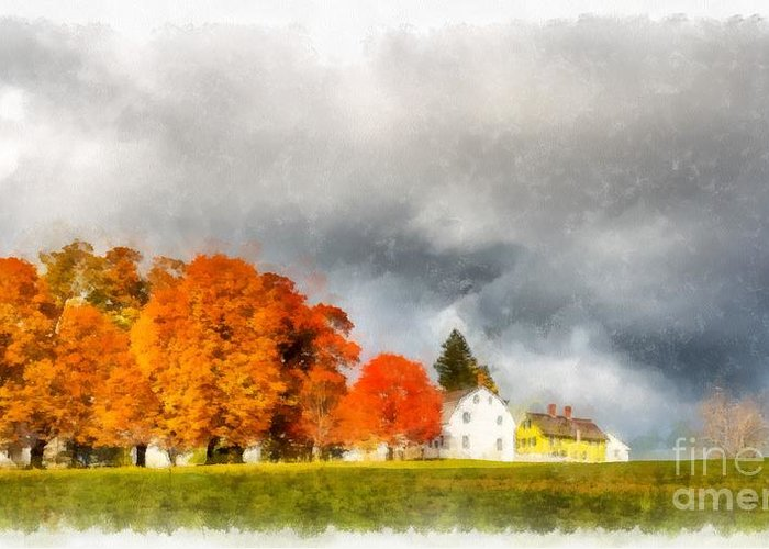 New England Village Photographs Greeting Cards