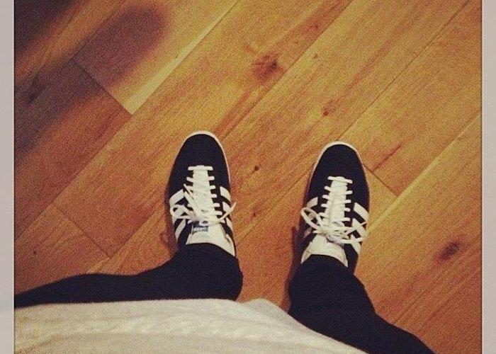 zakupy miło tanio ogromny wybór New Feet #adidas #gazelles #britpop Greeting Card