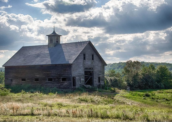 Barn Greeting Card featuring the photograph New Gloucester 7p00331 by Guy Whiteley