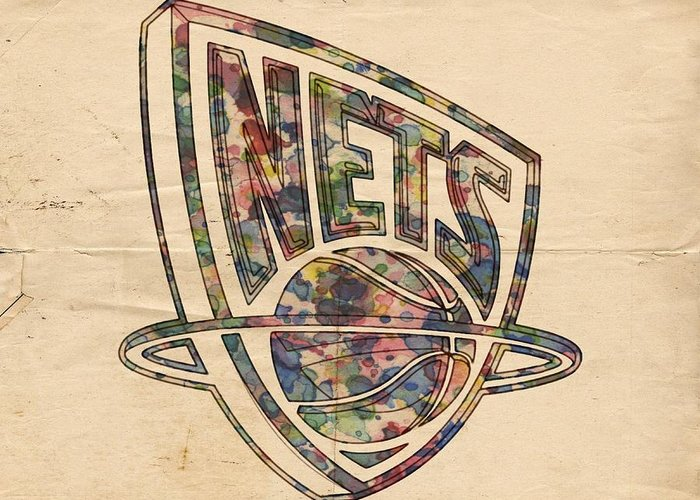 New Jersey Nets Digital Art Greeting Cards