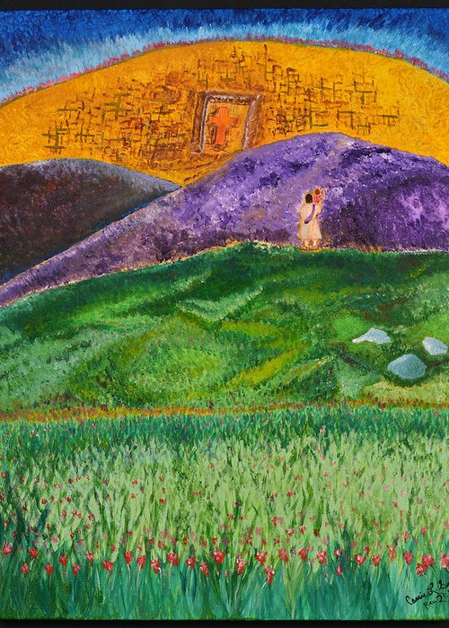 Art-by-cassie Sears Greeting Card featuring the painting New Jerusalem by Cassie Sears
