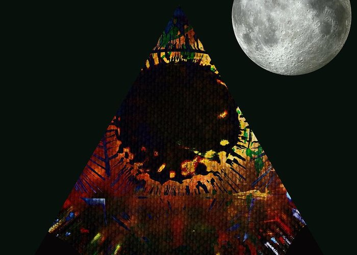 Life Greeting Card featuring the digital art New Moon by Meiers Daniel