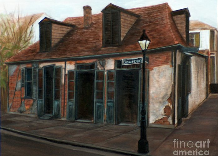 Realism Greeting Card featuring the painting New Orleans Familiar Site Before by M J Venrick