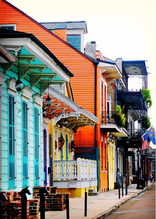 New Orleans Greeting Card featuring the photograph New Orleans Living by Val Stone Creager