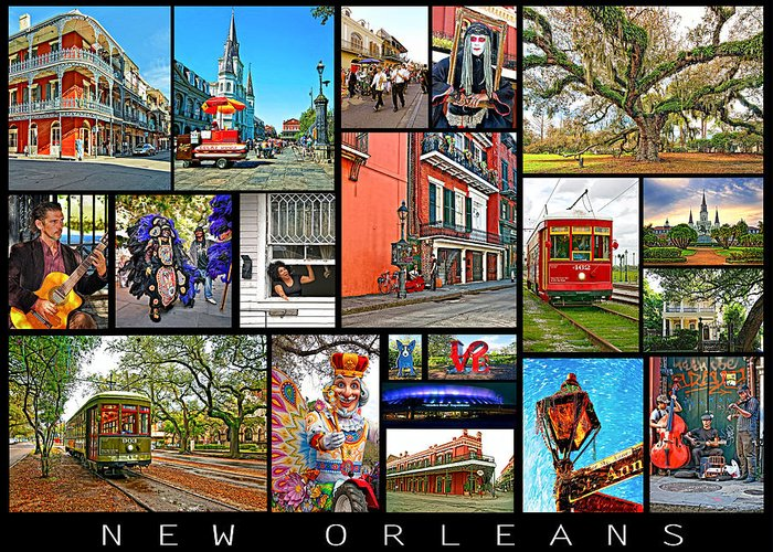 New Orleans Greeting Card featuring the photograph New Orleans by Steve Harrington