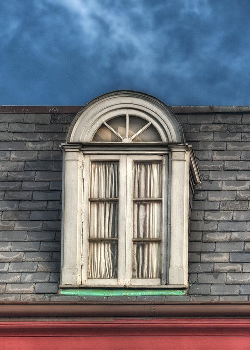 Window Greeting Card featuring the photograph New Orleans Window by Brenda Bryant