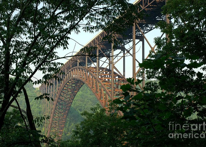West Virginia Greeting Card featuring the photograph New River Gorge Bridge by Thomas R Fletcher
