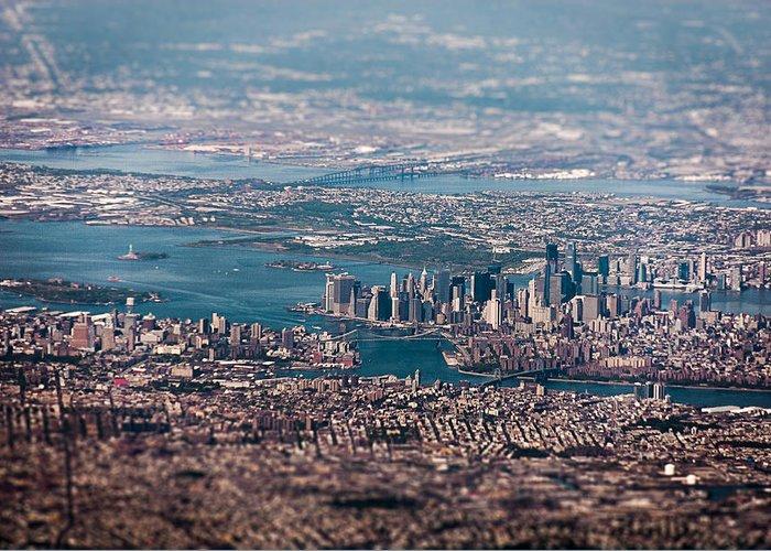 Nyc Greeting Card featuring the photograph New York City Aerial by Artjom Skljarov