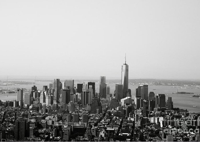 New York Greeting Card featuring the photograph New York City by Linda Woods