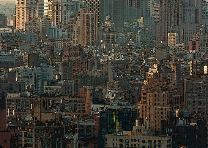 New York City Greeting Card featuring the photograph New York City Posterized by Lindley Johnson