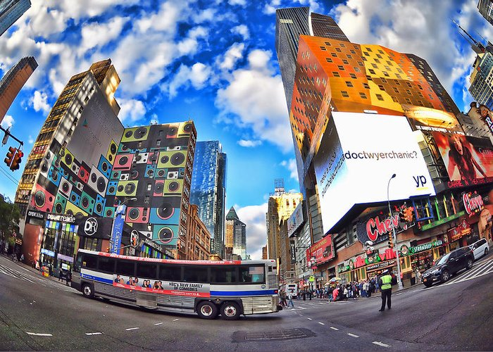 Urban Greeting Card featuring the photograph New York City by Tina Baxter