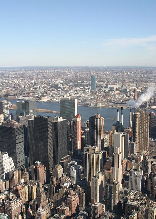 New Greeting Card featuring the photograph New York City - View From Empire State Building - 121218 by DC Photographer