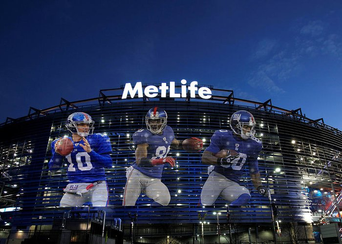 903256306a9 New York Giants Metlife Stadium Greeting Card for Sale by Joe Hamilton