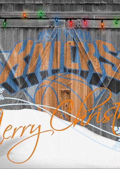 Knicks Greeting Card featuring the photograph New York Knicks by Joe Hamilton