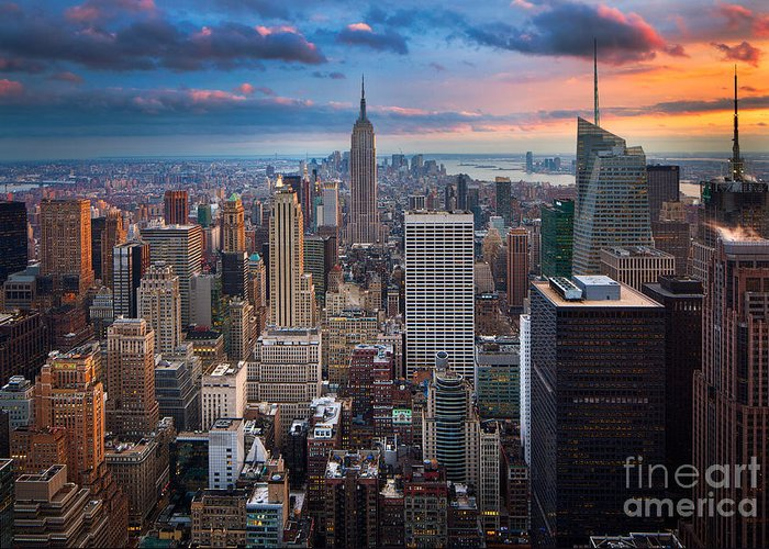 America Greeting Card featuring the photograph New York New York by Inge Johnsson