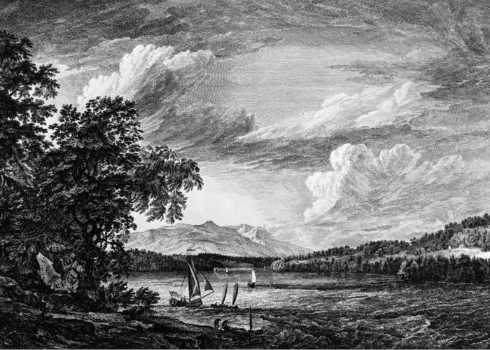 1761 Greeting Card featuring the painting New York Poughkeepsie by Granger