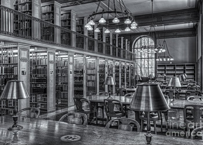 Clarence Holmes Greeting Card featuring the photograph New York Public Library Genealogy Room II by Clarence Holmes