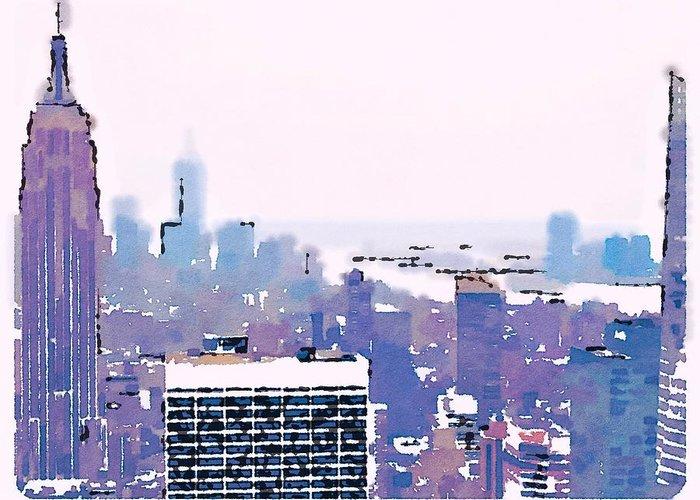 New York Skyline From The Rainbow Room In Rockefeller Center